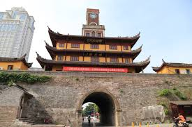 Gulou Clock Tower, entrance to Gulou Market (courtesy: wikimedia)